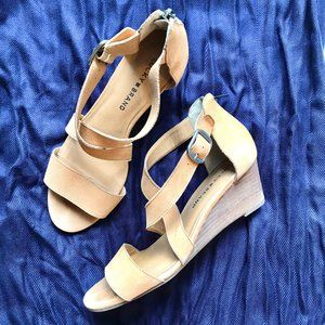Lucky brand Jenley Wedge Sandals - size 8